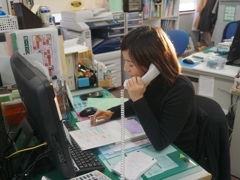 電話応対や事務作業がメイン!