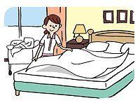 客室清掃・ベッドメイクをお願いします。